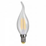 LED Лампа С35TA E14 3Вт (свеча на ветру) матовая серии Филамент