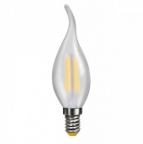LED Лампа С35TA E14  2 Вт (свеча на ветру) матовая серии Филамент