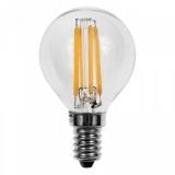 LED Лампа G45 E14  2 Вт. прозрачная серии Филамент