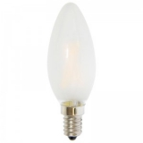 LED Лампа С35 (свеча) E14 3 Вт матовая серии Филамент