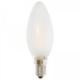 LED Лампа С35 (свеча) E14  2 Вт матовая серии Филамент