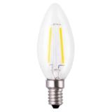 LED Лампа С35 (свеча) E14 3W прозрачная серии Филамент