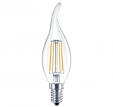 LED Лампа С35TA E14  4 Вт (свеча на ветру) серии Филамент
