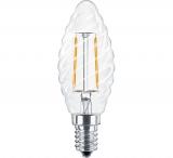 LED Лампа С35TW E14  3 Вт (свеча фигурная) серии Филамент