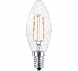 LED Лампа С35TW E14  2 Вт (свеча фигурная) серии Филамент