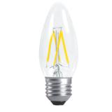 LED Лампа C35 (свеча) E27 4 Вт. прозрачная серии Филамент