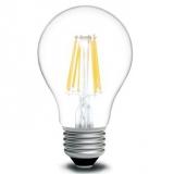 LED Лампа A60  6 Вт. прозрачная серии Филамент