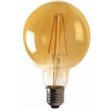 LED Лампа G95  7.5 Вт. бронзовая серии Филамент