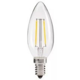 LED Лампа C35 (свеча)  5 Вт.Е14 прозрачная серии Филамент