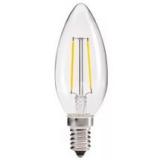LED Лампа С35 (свеча) E14  2 Вт прозрачная серии Филамент