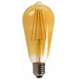 LED Лампа ST64  6 Вт. бронзовая серии Филамент